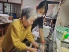 「手伝ってあげるよ♪」と食器洗いをしてくださいました(*^▽^*)