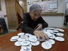 皆さんの名前の漢字を書いた札を作って、ご自分の名前探しをしています(*^_^*)
