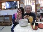 茶道の先生が美味しいお茶を煎れてくれました(^O^)/お供に回転焼きを皆さんで食べましたよ