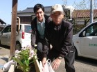 アジサイの花を買って、一緒に植えました(^・^)☆