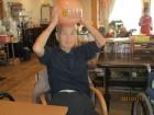 ボールを頭に乗っけちゃいました(≧▽≦)