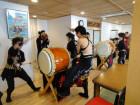 祇園太鼓 ボランティアで祇園太鼓を披露して頂きました