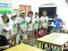 徳力小学校学生 見守り活動