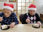 クリスマスケーキ甘くておいしい~(*^_^*)