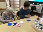折り紙でお花作り(^_^)/