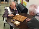 将棋の勝負は最近一勝一敗が多いそうです。