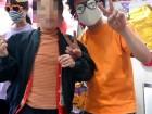 運動会での借り物競走で職員と一緒に仮装しました(^v^)