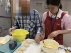 おやつ作り☆バナナパンケーキを一緒に作りました