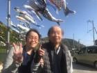 ≪桜橋・鯉のぼり見物≫青空の下を元気に泳ぐ鯉のぼりが見れたよ。