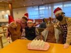 【クリスマス会】ケーキを利用者様と一緒に作りました(^^♪文字